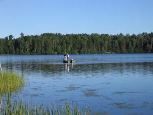 Spring Fishing Clam Lake, Wisconsin