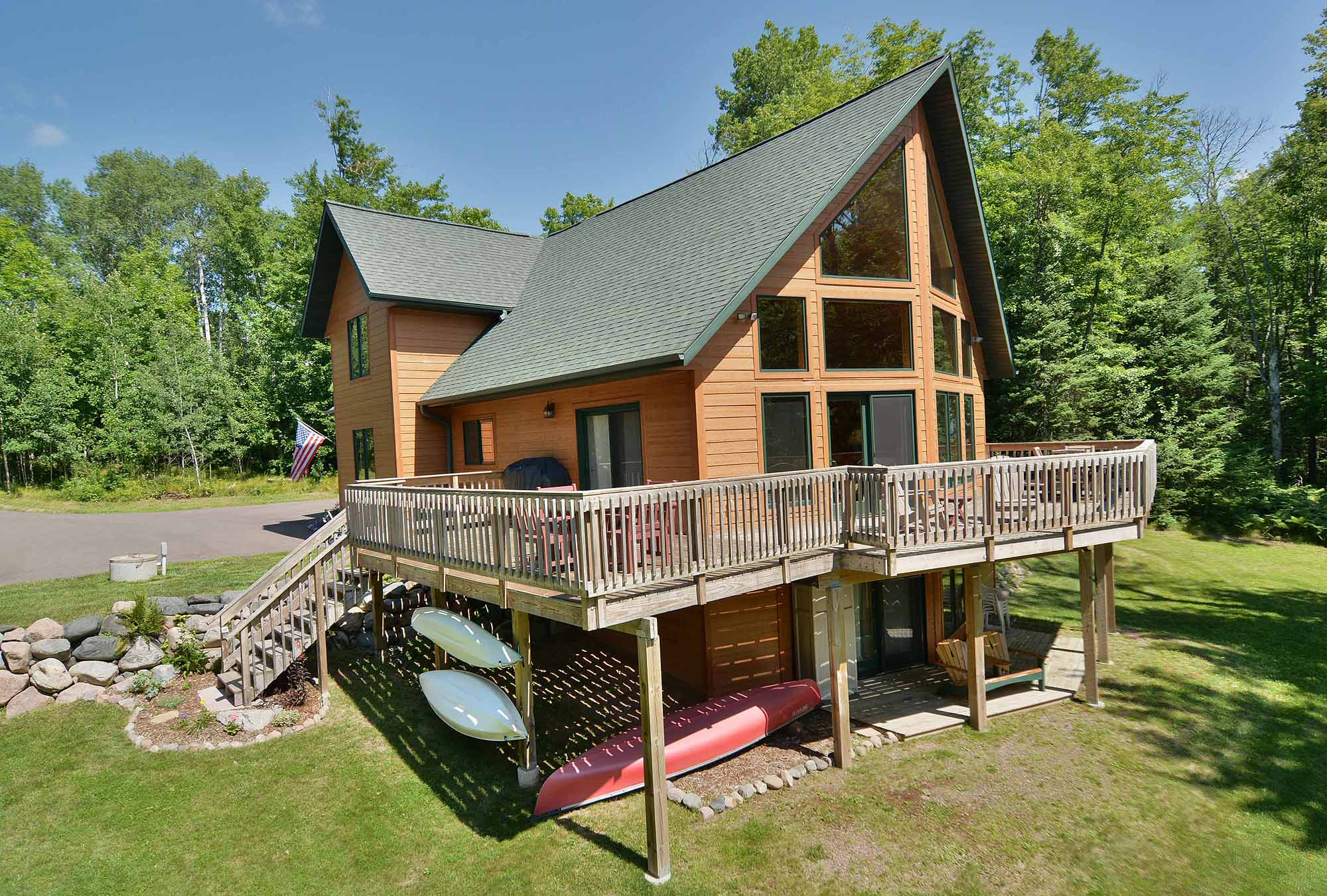 slide rent cottage wisconsin in rentals cabin northern a background cabins home vacation
