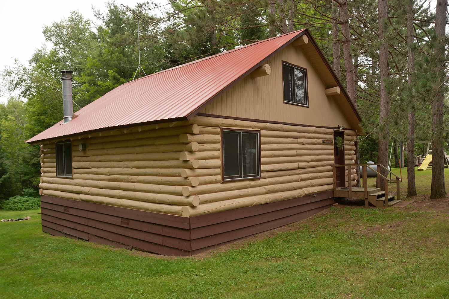 Lake view log cabin rental clam lake wisconsin clam for Cabin rentals wi