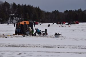 Ice Fishing in Clam Lake, WI