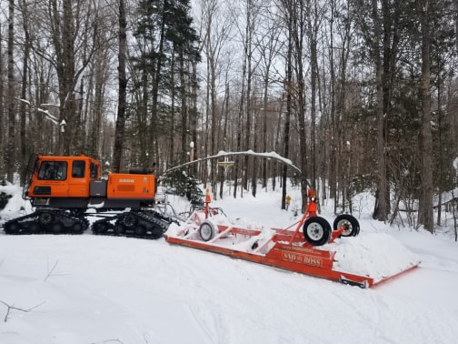 Clam Lake, WI Groomed Snowmobile Trails