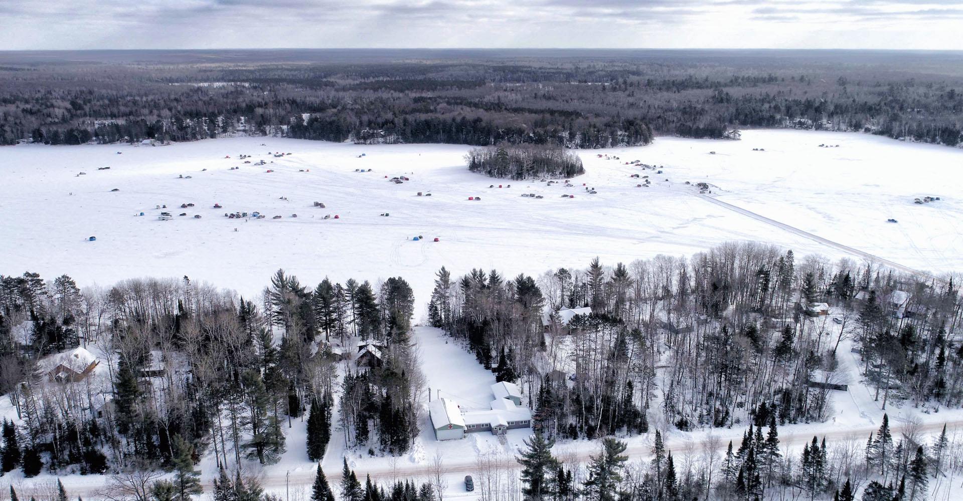 Clam Lake, WI Ice Fishing