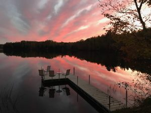 Summer Sunset in Clam Lake