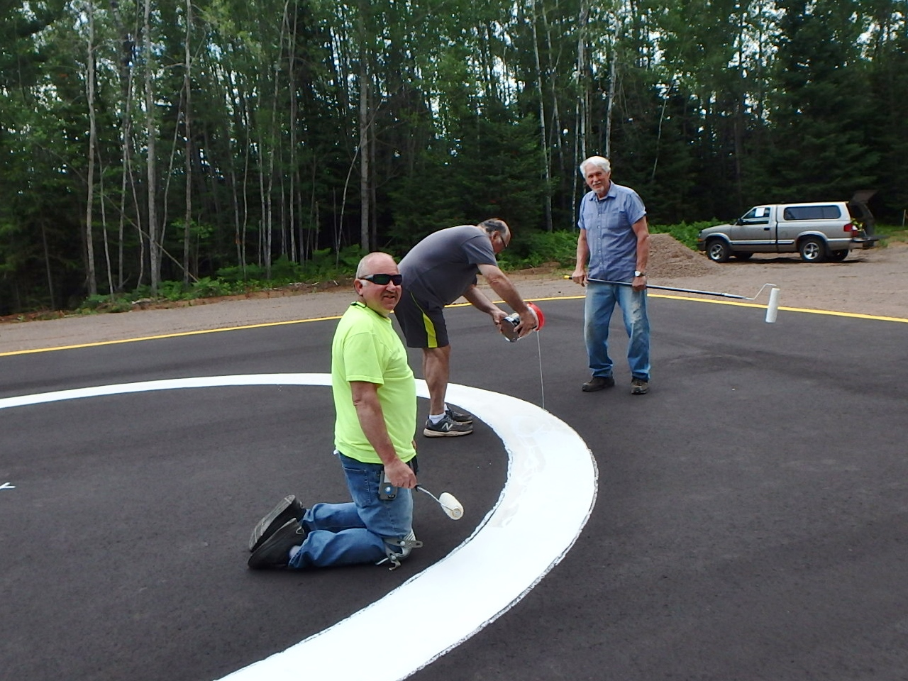Clam Lake WI Helipad