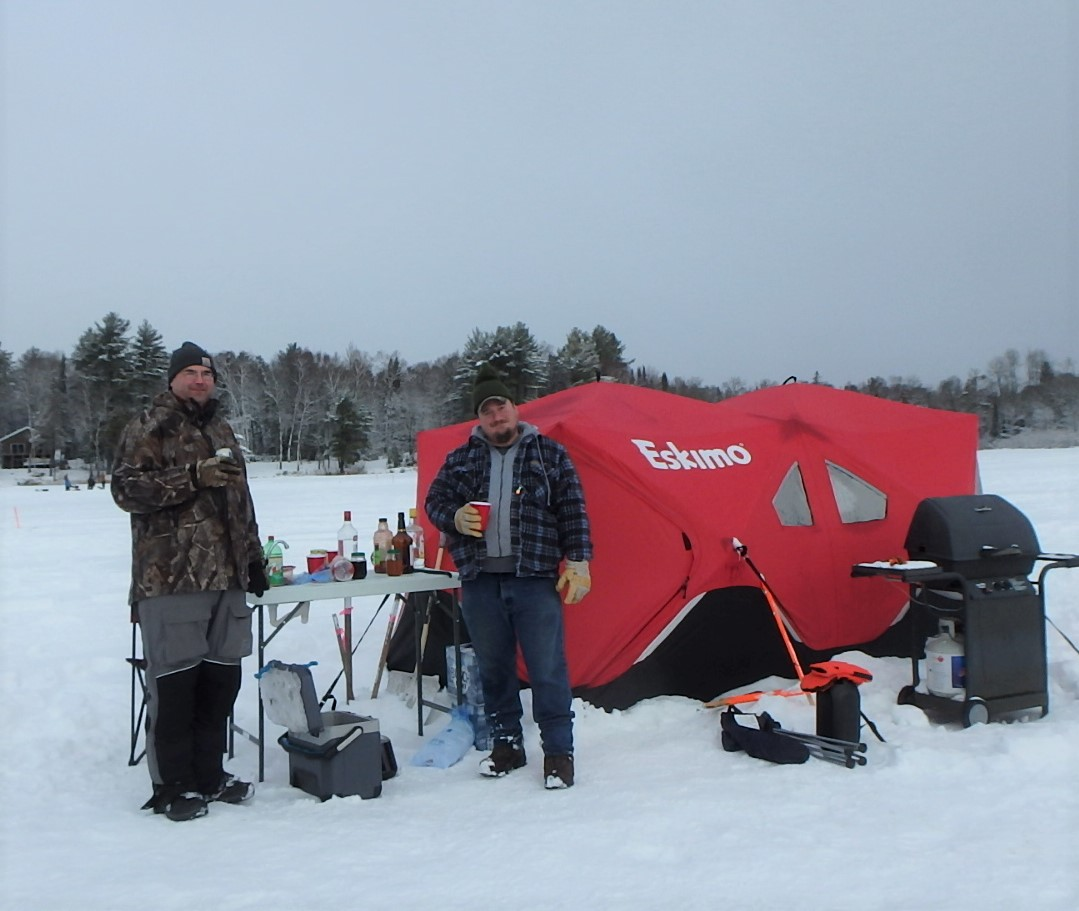 Clam Lake WI Ice Fishing Event 2021