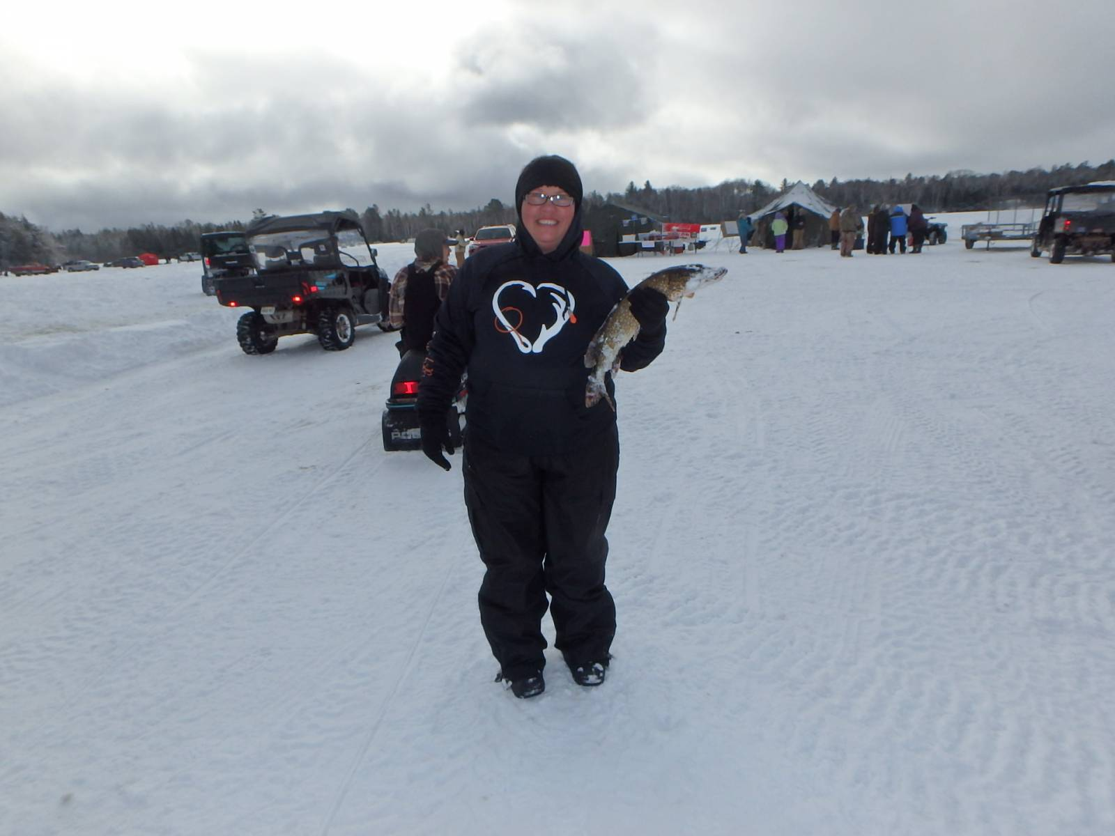 2021 Clam Lake WI Ice Fishing Contest