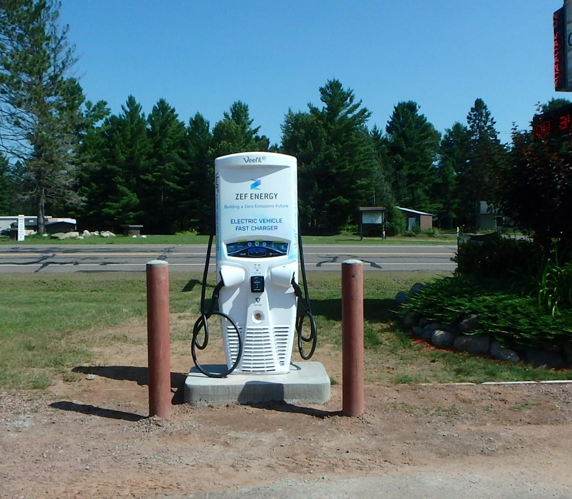 Clam Lake, WI EV Charging Station